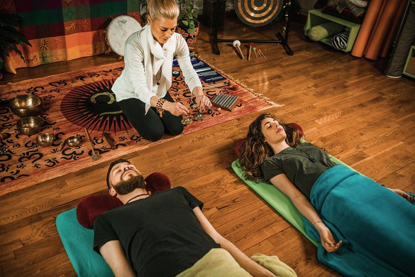 Guided meditation with msuic